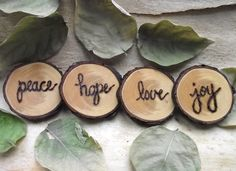 Wood Magnets  Wood Burned EcoFriendly and Rustic by ARemarkYouMade, $9.95