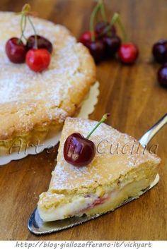 Crostata morbida alle ciliegie e mascarpone vickyart arte in cucina