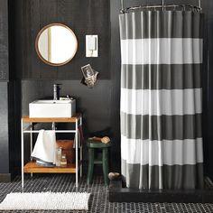 23+ Elegant Bathroom Shower Curtain Ideas, Photos, Remodel and Design #showercurtain