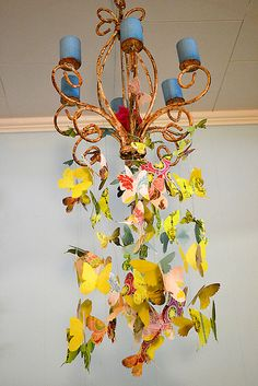 butterfly chandelier - woodland/garden fairy party