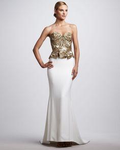 Peplum Gown   Brainy Mademoiselle