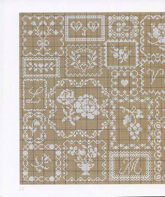 "Photo from album ""Anne Van Damme - Dentelles, Galons et Rubans - on Yandex. Cross Stitch Boards, Cross Stitch Heart, Cross Stitch Alphabet, Cross Stitch Samplers, Cross Stitch Flowers, Cross Stitching, Diy Embroidery, Cross Stitch Embroidery, Cross Stitch Patterns"
