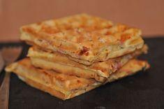 Gaufres salées jambon fromage - Blog cuisine avec du chocolat ou Thermomix mais pas que Just Bake, Beignets, Batch Cooking, Tupperware, Food Truck, Crepes, Waffles, Sandwiches, Brunch