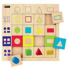 Puzzle en bois con us sur le principe du tableau double for Tableau logique