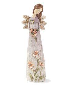 Look what I found on #zulily! Lavender Angel Figurine #zulilyfinds