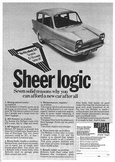 Reliant Regal Ad 1971