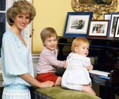 Informal picture of Diana, William and Harry