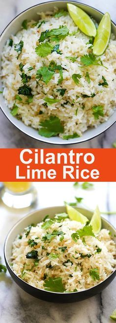 Cilantro Lime Rice - easy and delicious one-pot rice with cilantro, lime juice and butter. This Mexican-inspired rice is better than Chipotle   rasamalaysia.com