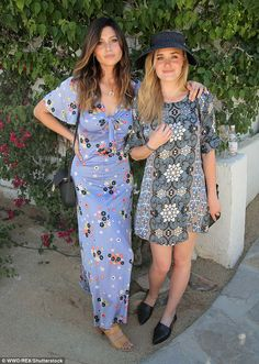 Feminine wiles: Aly and AJ Michalka - who are also a pop duo - looked lovely in Moroccan-i...