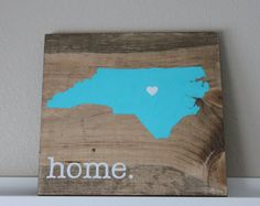 North Carolina Sign, CHOOSE COLORS, State Sign, Custom Wood Sign, Pallet Sign, Personalized Wood Sign, home decor, wall art, moving gift