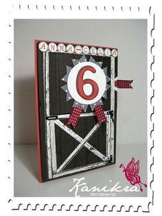 Punch Art Pferdekarte - Stall, Fähnchenstanze, Eulenstanze, Großes Oval, Bigz L Druckbuchstaben, Karte für Mädchen