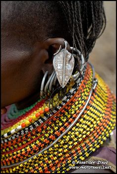 Detail of Turkana woman jewellery, Kenya |  © Frantisek Staud.