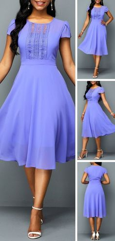 Featured with pure color will show this dress is casual and popular, A Line Chiffon design make it unique with others. Short length will let your leg looks longer and make you slimmer. Pretty Dresses, Sexy Dresses, Beautiful Dresses, Dress Outfits, Casual Dresses, Short Dresses, Summer Dresses, African Fashion Dresses, African Dress