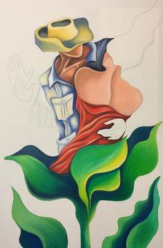 Original Oil Painting on Stretched Canvas First Dance Cuban Cuban Art, Poster Colour, Artist Canvas, Portrait Art, Stretched Canvas, Figurative, Bowser, Tropical, Hand Painted