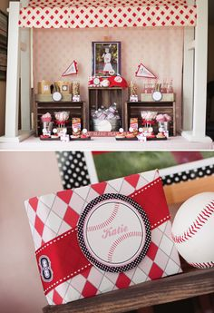Holy Cuteness!  Vintage Inspired Girls Baseball Birthday Party via HWTM