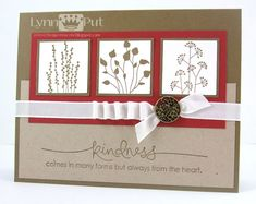 Stampin Up: Pocket Silhouettes. A way to use this stamp set on a bigger card.
