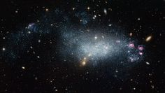 Dwarf Galaxy DDO 68 (UGC 5340) - This new image from the Hubble Space Telescope has data that indicates DDO 68 - about 39 million light-years away - is a newly formed galaxy in our cosmic neighborhood. However, without more detailed modelling, astronomers cannot be sure and they think it may be older than the current data indicates