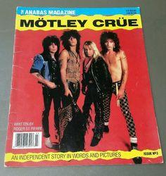 Motley Crue Anabas Magazine Issue No. 3 1987 Tommy Lee Nikki Sixx Vince Neil  #AlternativeIndieGarageRockHardRockPunkNewWaveRocknRoll
