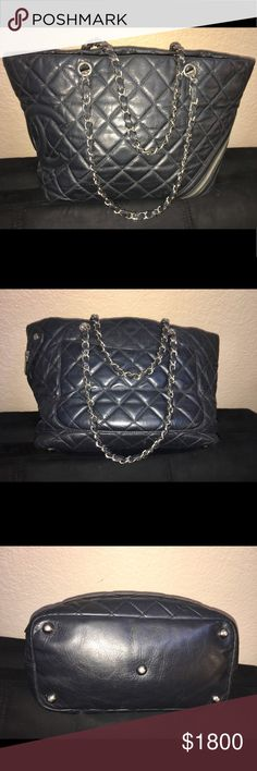 """CHANEL Aged Calfskin Quilted Large Cotton Club CHANEL Aged Calfskin Quilted Large Cotton Club Tote Black 12x6x10  Strap is about 10"""" This was authenticated by poshmark Trading for chanel crossbody CHANEL Bags Shoulder Bags"""