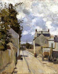 Rue de lHermitage, Pontoise. (1874). Писсарро, Камиль