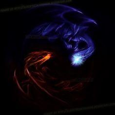 Red eyes black dragon VS Blue eyes white dragon