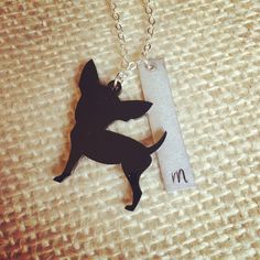 A personal favorite from my Etsy shop https://www.etsy.com/listing/515430819/chihuahua-jewelry-chihuahua-necklace