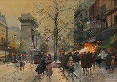 Eugene Galien Laloue - Porte sur les Grands Boulevards (Porte St. Denis)
