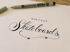 A nice calligraphic mark. Vintage Skateboards