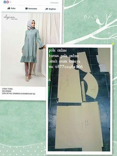 Pola Lengan, Diy Fashion, Womens Fashion, Hijab Fashion Inspiration, Muslim Dress, Blouse Models, Dress Sewing Patterns, Couture, Kebaya