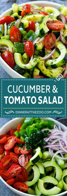 Nutritious Snack Tips For Equally Young Ones And Adults Cucumber Tomato Salad Recipe Cucumber Salad Tomato Salad Vegetable Salad Tomato Salad Recipes, Cucumber Tomato Salad, Best Salad Recipes, Salad Dressing Recipes, Chicken Salad Recipes, Tomato Recipe, Spinach Salad, Avocado Salad, Cucumber Cleanse