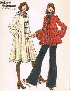 betsey johnson 70s coat
