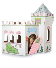 girls cardboard castle