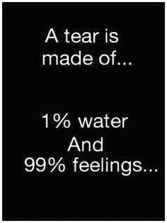 No shame to cry....