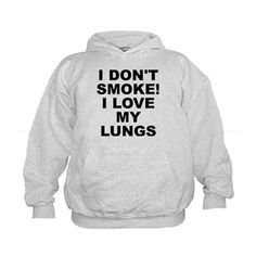 68ecef9e9 (FRONT) Children's light color hoodie with I Don't Smoke I Love My