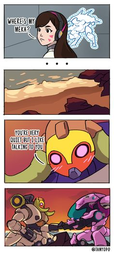 Overwatch Orisa comic by tanyopo on Tumblr