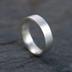 white gold males wedding band 5mm - abide