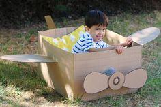 Cardboard Box Airplane How To