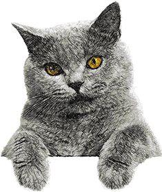 British cat photo stitch free embroidery design 4 - Photo stitch embroidery designs - Machine embroidery community