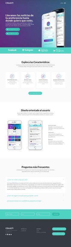 Diseño y Programación de la Web de Descarga de la App Q'Bolá?! #webdesign