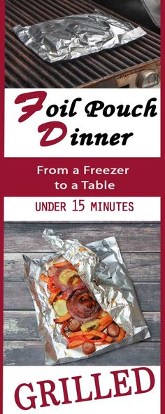 Looking for easy dinner ideas? Grill Your Dinner in a Foil Pouch - From a Freezer to a Table in under 15 Minutes. Great camping recipe, also known as a hobo bag. #SpringIntoFlavor #Ad @walmart