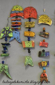 Viidesluokkalaiset kokeilivat samaa tekniikkaa kuin kakkoset savenkäsittelemisessä. Aiheena oli kalanruodot. Linkki vie sivuille, joista ide...