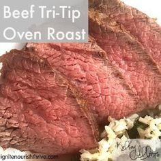 This easy Tri-TIp Roast recipe is simple, flavorful, and fancy. This cut of beef is good in the slow cooker, but perfect in the oven!