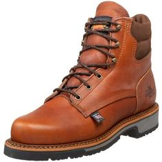 """Thorogood Men's American Heritage 6"""" Non-Safety Boot Thorogood. $156.98. Slip-Resistant. Non-Marking. leather. ASTM F 2413-05 M/I/75/C/75 Steel Toe. Fiberglass Shank. Rubber sole. Provides Electrical Hazard Protection"""