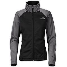 North Face Canyonwall Womens CAG0-GFD Black Grey Windwall Fleece Jacket Size XL