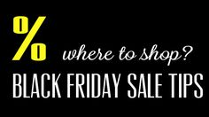 BLACK FRIDAY SALE – where to shop?