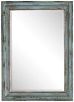 A Beautiful Mardela Sky Blue Rustic Mirror.