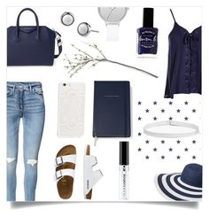"""""""Blue & White"""" by lostandfound92 ❤ liked on Polyvore featuring Sans Souci, Vera Bradley, TravelSmith, Skagen, Givenchy, Boohoo, Kate Spade, JFR and Lauren B. Beauty"""