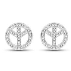 Peace Ohrstecker 925 Silber mit Zirkonia Unisex.. Style pur