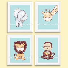 Items similar to Baby boy nursery decor nursery art prints kids wall art safari animals children decor elephant lion giraffe monkey Set, 4 prints on Etsy Jungle Nursery Boy, Baby Boy Nursery Decor, Baby Room Art, Baby Boy Nurseries, Baby Decor, Monkey Nursery, Themed Nursery, Safari Kids Rooms, Art Wall Kids
