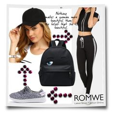 """#8/3 Romwe"" by almira-mustafic ❤ liked on Polyvore"